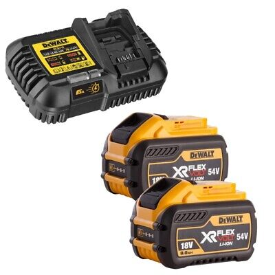 Dewalt DCB547 18V/54V 9.0Ah FLEXVOLT Battery Twin Pack & DCB118 Charger Bundle
