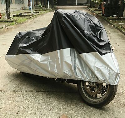 XXXXL Motorcycle Rain Cover For Harley Electra Glide Outdoor UV Protector