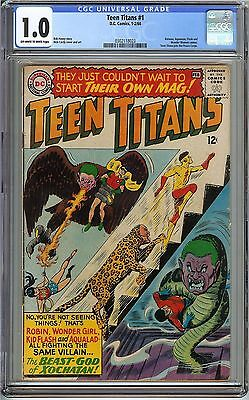 Teen Titans #1 CGC 1.0 FR DC Nick Cardy BATMAN AQUAMAN FLASH