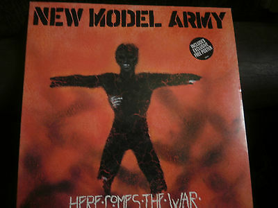 """New Model Army Here Comes The War + Poster UK 12"""" vinyl single record"""