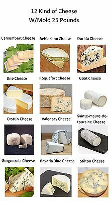 Home Making Kit 12 Kind Of Cheese W/ Mold 25 Pounds + Free Recipes New Sealed