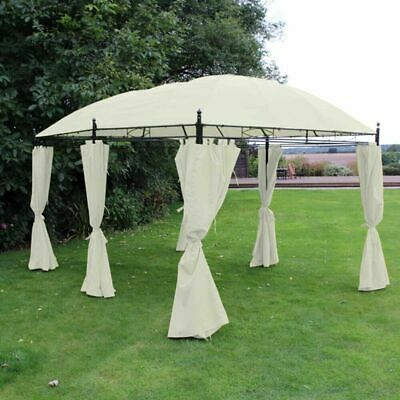 3M x 4M RECTANGLE HEAVY DUTY OUTDOOR GARDEN GAZEBO PARTY TENT MARQUEE CURTAINS