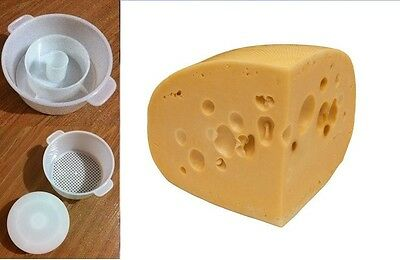 Hard Radamer Cheese Full Making Kit + Mold With Follower Large For 2.2lbs/1kg