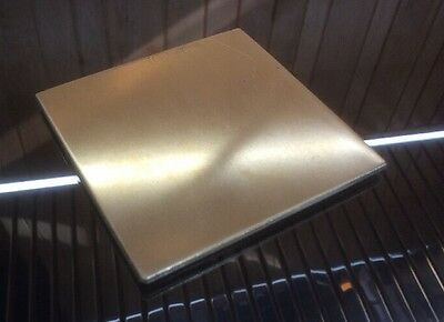 "1/8 BRASS SHEET PLATE NEW 4""X4"" .125 Thick *CUSTOM 1/8 SIZES AVAILABLE*"