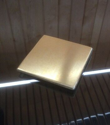 """1/8 BRASS SHEET PLATE NEW 2""""X2"""" .125 Thick *CUSTOM 1/8 SIZES AVAILABLE*"""