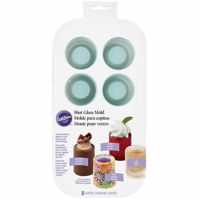 Wilton 570-0118 Round Silicone Edible Shot Glass Baking Ice Treat Mold, 8-Cavity