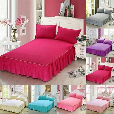 Bed Sheet Set Comfort Cotton Bedspread +2 Pillowcases Sheets Bedding Cover Set
