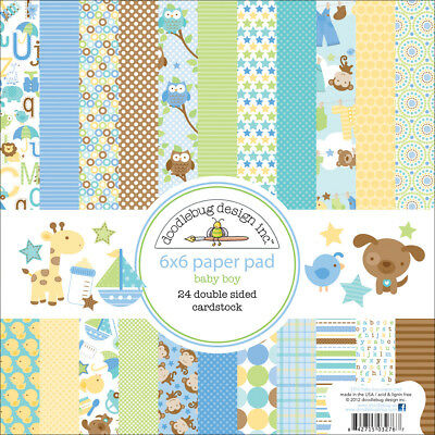 """Snips & Snails Paper Pad 6""""X6""""-24 Double-Sided Cardstock Sheets"""