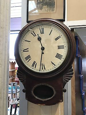 Superb Quality Earl Victorian Fusee Drop Dial Clock. Open To Offers.