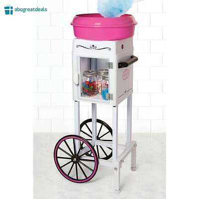 Commercial Cotton Candy Machine Maker Sugar Free Birthday Party Carnival Cart