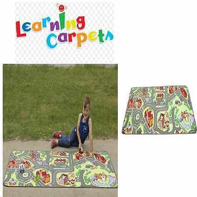 Tapestry Rug My Neighborhood Carpet Play Mat Floor Kids Learning Living Room Fun