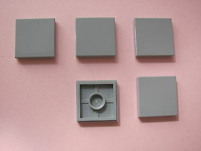 x5 LEGO 3068b @@ TILE 2x2 @@ Light Bluish Grey 72577261 7663 801 8098 8129