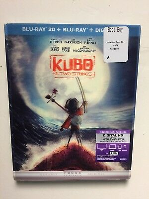 Kubo and the Two Strings (Blu-ray/DVD, 2016, 2-Disc) NEW w/lenticular Slipcover