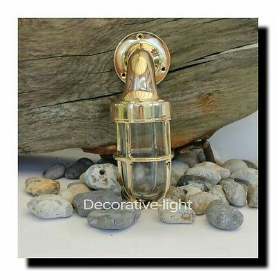 Nautical Light Marine Ship Brass Small Passage Bulkhead Outdoor Light 1 Piece
