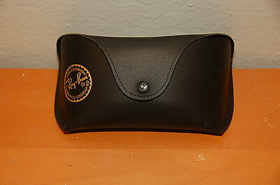 Large Ray Ban Black Leather Sunglasses Case Only Black interior