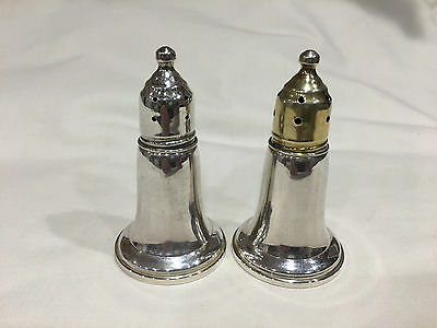 Reed & Barton Sterling Silver Salt & Pepper Shakers w/ glass liners