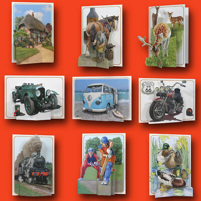 Pictoria Press 3D Pop Up Greeting Card Any Occassion Birthday Dad Son Brother