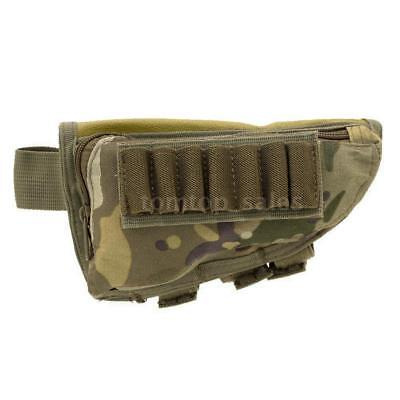 Tactical Airsoft Rifle Shotgun Buttstock Shell Ammo Holder Stock Pouch M6O0