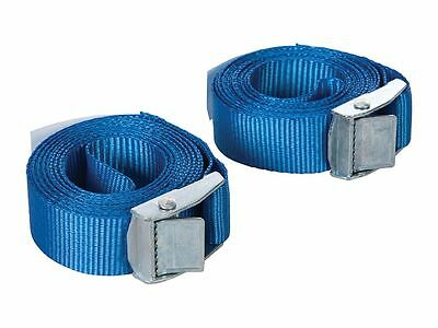 Spanngurte Set Silverline 25mm x 2,5m 2-teilig Polypropylen-Gurte in Blau