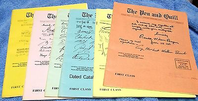 1981 Uacc Complete Year (6 Issues) Of Uacc Magazine-- 'pen & Quill'