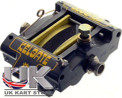 Kelgate KA4 4 Pot Adjustable Caliper Brake System w/ Yellow Medium Pads UK KART
