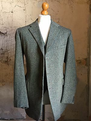 Vintage Bespoke Donegal Tweed Jacket And Waistcoat Size 42 44
