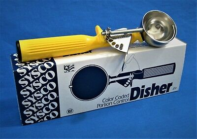 SYSCO (Vollrath) Disher 4338794 *US MADE* Portion Control Scoop Size 20 1-5/8 oz