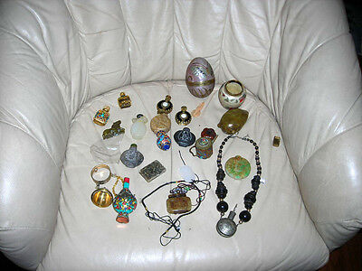 Clearance! Lot 24 Vintage/antique Chinese Snuff Bottles, Assorted Jewelry Etc.