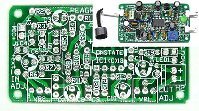 Sensitive Microphone Amp Audio AGC ALC AVC level PCB,DIY low noise CCTV sound BD