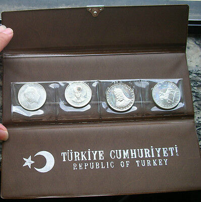 Turkey 1960-1972 Mint Pack Set of 4 Silver Coins