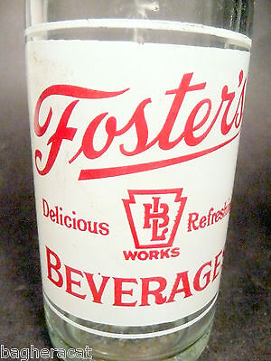 vintage ACL Soda POP Bottle: FOSTER'S of LANSFORD, PA - 8 (?) oz ACL