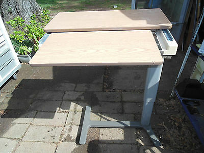 Hill-Rom Over Bed Table with slide out, storage etc