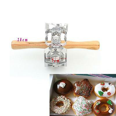 Donut Maker Cutter 6 Side Roller Revolving Mold Tool Fondant Cake Bread Mould -S