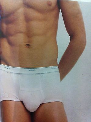 BONDS SUPPORT BRIEFS Mens White Cotton Underwear Trunk Brief PLUS SIZES