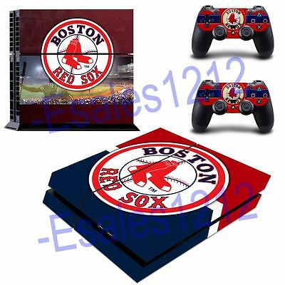 MLB Boston Red Sox Vinyl Skin Decals Stickers for PS4 PlayStation 2 Controllers