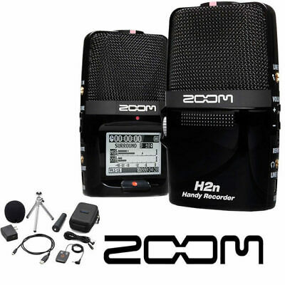 Zoom H2n Portable stereo audio recorder including accessories pack