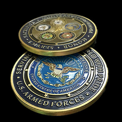 US Navy Army Air Force Marine Corps Commemorative Coins Art Craft Gift