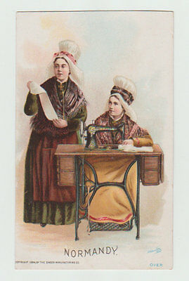 Victorian Trade Card, Singer Manufacturing Company, Normandy