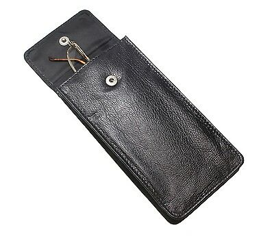 Soft Leather Spectacle / Glasses Case Holder - BLACK