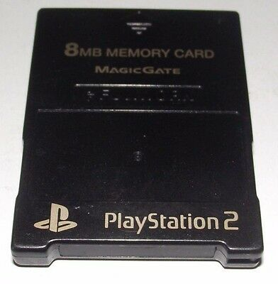 Black Fujiwork Magic Gate PS2 Memory Card Preloved PlayStation 2 8MB