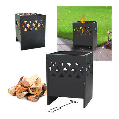 La Hacienda Ottawa Outdoor Firepit Fire Basket Metal Steel Garden Patio Heater
