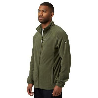 Green Craghoppers Mens Newlyn Full Zip Fleece Outdoor Clothing One Colour