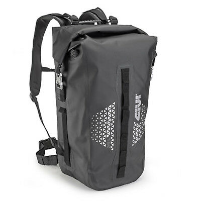 Givi UT802 Motorcycle Motorbike Waterproof Reflective Bag Pack Black - 35 litre