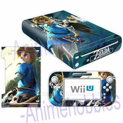 Nintendo Wii U Console Controllers Skin Kit Legend of Zelda Vinyl Decals Sticker