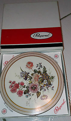 Vintage Pimpernel Round Coasters Set of 6-Made in England  Floral Bouquet