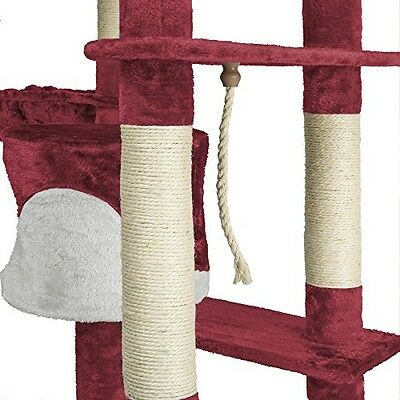TecTake Cat Tree scratcher scratching post activity sisal climbing tower 201cm