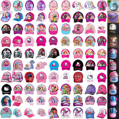 Girls Kids Paw Patrol Trolls Frozen MPL Peppa Pig Summer Sun Baseball Cap NEW