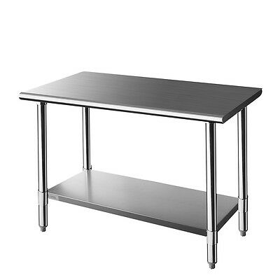 Z GRILLS 48-Inch X 24-Inch Stainless Steel Kitchen Table, 48 x 24 Inches