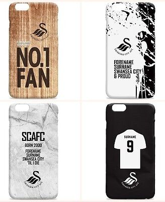Personalised SWANSEA CITY Football Club FC Phone Case iPhone Samsung Cover