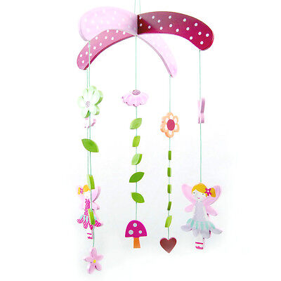 NEW Wooden Flower Fairy Fairies nursery room Decor mobile  baby mobile